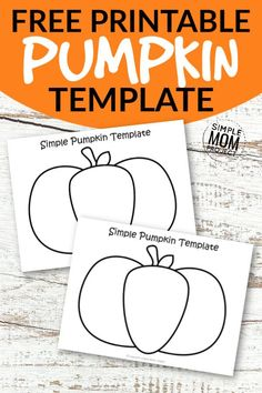 Click now to print these easy pumpkin templates for kids to color or to make a fun Halloween craft with! Use these simple, large and small, black and white printable pumpkin outline templates in your next Halloween craft or coloring activity! Happy Halloween, Fun Halloween Crafts, Fall Crafts For Kids, Halloween Activities, Autumn Activities, Halloween Stuff, Halloween Labels, Family Crafts, Halloween Halloween
