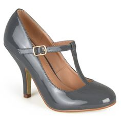 @Overstock - Journee Collection Women's 'Cabrie' Patent T-strap Pumps - Dress to impress in t-strap pumps by Journee Collection. These shoes feature patent leather uppers with classic round toes and a t-strap design across the vamps. Small stiletto heels complete the design of these practical and stylish pumps.  http://www.overstock.com/Clothing-Shoes/Journee-Collection-Womens-Cabrie-Patent-T-strap-Pumps/9756416/product.html?CID=214117 $38.99