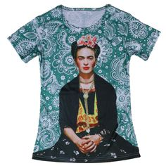 Frida Kahlo Cool Womens Scoop Neck T Shirts