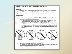 Cardiac Precautions - lots of info