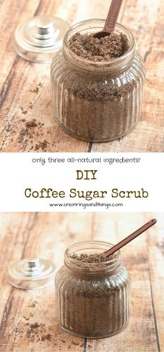 Easy and inexpensive to make,  this luxurious homemade Coffee Sugar Scrub will leave you refreshed and invigorated, and your skin smooth and silky soft. Only three, all natural ingredients!