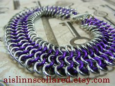 4in1 Chainmaille Bracelet Silver Tone Base by aislinnscollared