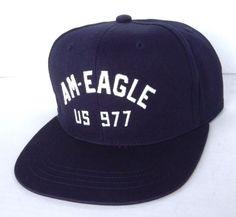 new AMERICAN EAGLE SNAPBACK HAT Navy-Blue/White/Orange AE US-977 MEN/WOMEN/TEEN #AmericanEagleOutfitters #BaseballCap