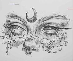 Cool Art Drawings, Pencil Art Drawings, Art Drawings Sketches, Tattoo Sketches, Tattoo Drawings, Tattoos, Art Inspiration Drawing, Art Inspo, Arte Sketchbook