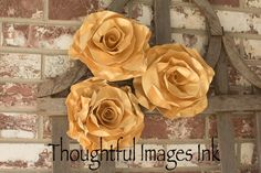 gold rolled roses