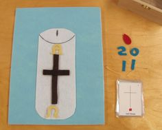 Prepare a paschal candle work. Felt or a pasting work?  This is not an official related work.