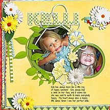 Kelli is such a sweetie!! She's always so full of joy and fun. I used a scrapkit called Pickin Apples from HOT FLASH DESIGNS. This one is made with her STACKERS AND CLUSTERS that she put together so beautifully. You'll be able to find them in her shop here: http://www.digiscrapboutique.com/boutique/HotFlashDesigns/