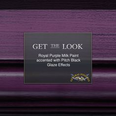 This look is fit for a queen! Get the look - General Finishes Royal Purple Milk Paint accented with Pitch Black Glaze Effects. Octagon end table/petbed