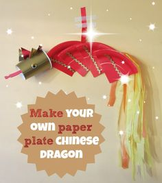 THis is a really simple Chinese New Year craft, and one my DD loved to helkp me with. All you need is a paper plate and a paper cup, a few bits of tissue, some glue and you are pretty much away! Have fun all xx