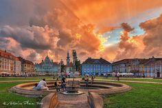 Timisoara - Sunset over the Union Square