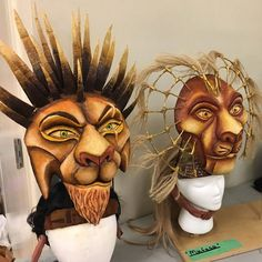Lion King Scar & Moufassa Costume Headpieces