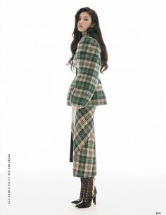 Red Velvet Joy, Thing 1, Wool Vest, Young Female, South Korean Girls, Korean Women, Peplum Dress, Instagram, Normcore