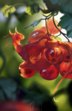 Fruit dragon art Ideas for 2019 Cute Fantasy Creatures, Mythical Creatures Art, Mythological Creatures, Cute Creatures, Magical Creatures, Creature Concept Art, Creature Design, Fantasy Kunst, Fantasy Art