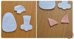 Как сделать 4 милых зверька из фетра, используя одну выкройку? Для создания четырех фетровых фигурок нам понадобится:1. Фетр: серый, белый, розовый, ч...