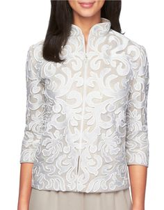 Pin for Later: Every Bridal Outfit You'll Ever Need — From the Rehearsal Dinner to the Wedding  Alex Evenings Lace Zip Jacket ($139)
