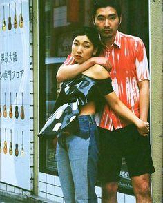 "WEBSTA @ lailatokio - ""i-D Japan, dancing in the rain""Left:00s Maison Martin Margiela artisanal denimRight:90s RAF SIMONS shirts"