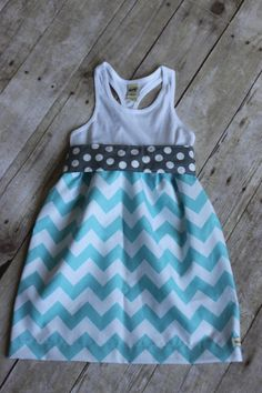Girls dress Chevron racerback dress toddler by WillowBeeApparel, $28.00
