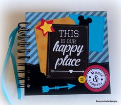 Get it before it's gone! 2017 80 pgs PERSONALIZED  Disney Autograph book & scrapbook combo by secondsisterdesigns