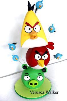 Angry Bird Cake by Verusca.deviantart.com on @deviantART