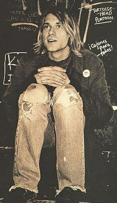 Kurt Cobain - This picture stunned me because of how young he looks in it, but then I have to stop and think that they WERE just kids. I was almost a year younger than Kurt.
