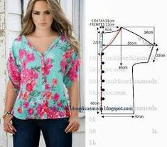 how to sew a beautiful and fashion blouse and tunic tutorial free pattern Tunic Sewing Patterns, Sewing Blouses, Blouse Patterns, Clothing Patterns, Tunic Pattern, Make Your Own Clothes, Diy Clothes, Clothes For Women, Costura Fashion