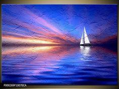 Canvas art schilderij Zeilboot