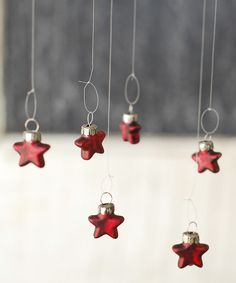 Tiny Red Star Ornament