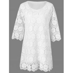 SHARE & Get it FREE | Lace Floral Overlay 3/4 Sleeve DressFor Fashion Lovers only:80,000+ Items • FREE SHIPPING Join Twinkledeals: Get YOUR $50 NOW!