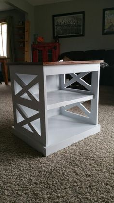 """""""X"""" end table"""