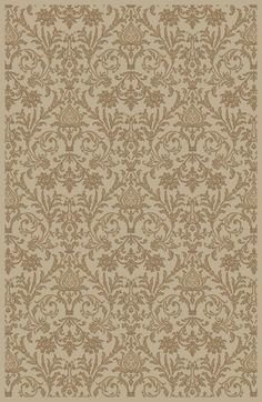 Concord Global Trading Jewel Damask Ivory Area Rug
