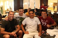 From left to right: Royce Gracie, Demian Maia, Rickson Gracie and Royler Gracie.