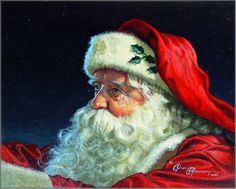 Dean Morrissey ~ Father Christmas:: The Sleigh Ride Portrait