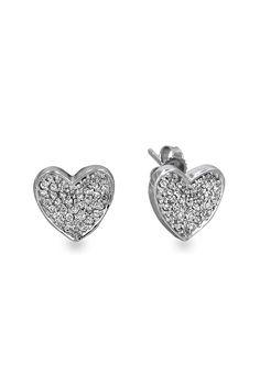 see details here:Effy Jewelry White Gold Diamond Heart Earrings, .38 TCW