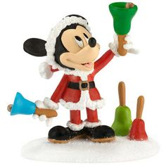 """This+charming+Department+56+collectible+depicts+Mickey+in+a+Santa+suit+""""Ringing+in+the+Holidays""""+with+a+collection+of+colorful+hand+bells.+Expertly+crafted+of+resin,+this+adora-bell+piece+is+part+of+the+Disney©+Mickey's+Merry+Christmas+Village+series.  """"Ringing+In+The+Holidays""""  <font+color=""""#FF0000"""">Disney©+Mickey's+Merry+Christmas+Village  Department+56+#4032206  Introduced+in+Jan+2013  2.25+x+1.75+x+2.5"""""""