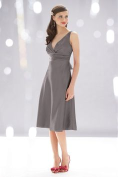 WToo Bridesmaids Dress Style 528 in Slate