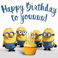 Happy Birthday To You Minions GIF - Tenor GIF Keyboard - Bring Personality To Your Conversations Happy Birthday Minions Gif, Minions Singing, Funny Happy Birthday Song, Birthday Wishes Gif, Happy Birthday Hearts, Happy Birthday Signs, Birthday Songs, Happy Birthday Balloons, Happy Birthday Messages