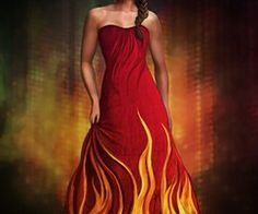 Katniss Everdeen dress maybe it is just a drawing but it is fab <3 <3