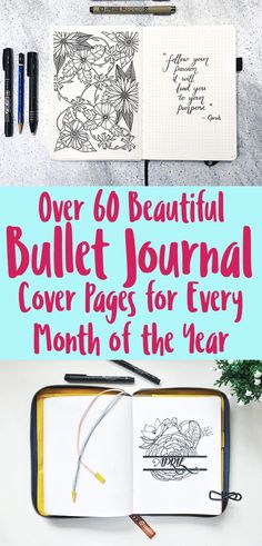 The bullet journal cover page is your chance to introduce a new month, season, and even bullet journal in your artistic style. if you want to have a cover Bullet Journal Contents, Bullet Journal Cover Page, Bullet Journal Hacks, Bullet Journal Printables, Bullet Journal How To Start A, Bullet Journal Spread, Bullet Journal Layout, Journal Covers, Bullet Journal Inspiration