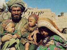 Pashtun man with his children