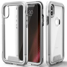 iPhone X Case - Zizo [ION Series] with FREE [iPhone X Screen Protector] Transparent Clear [Military Grade Drop Tested] (Silver/Clear)