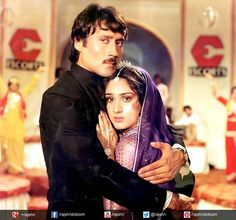 #JackieShroff and Minaxi from Hero #Bollywood #Couple