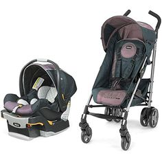 ChiccoUSA Lightway Plus Travel System Lyra *** Check out this great product. (This is an affiliate link) Travel System, Kids Sleep, Trendy Colors, Golf Bags, Baby Car Seats, Baby Strollers, Infant, Forward Fold, Children