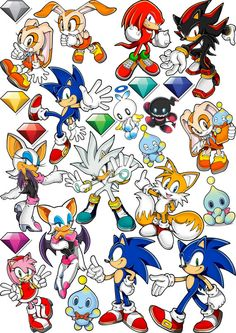 Sonic the Hedgehog sticker pack