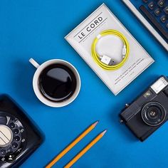 Solid Yellow braided textile cable shot by @fraxp #LeCord #yellow #blackcoffee