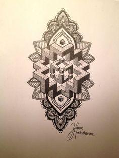 Tattoos by Joanna Antahkarana Dot Tattoos, Head Tattoos, Dot Work Tattoo, Body Art Tattoos, Geometric Mandala, Geometric Designs, Tattoo Sleeve Designs, Sleeve Tattoos, Geniale Tattoos