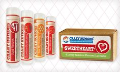 $8 for a Crazy Rumors All Natural 4-Piece Lip Balm Sweetheart Gift Box ($13.49 List Price) - Groupon