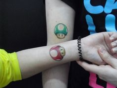 great nerdy couple tattoo :) - Such a hidden meaning behind this!!