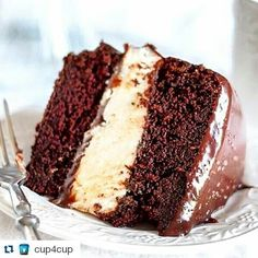Chocolate Heaven!!! #Repost @cup4cup with @repostapp  Salted Chocolate Ganache Ding-Dong Cake - made #glutenfree with #Cup4Cup. @mamagourmand's cake looks like just the sweet indulgence we're looking for - nice work! ( by @mamagourmand via @progressive_nectar). #gf #gfree #celiac #cake #chocolate #gfbaking #ganache by sonjakuvikloyd