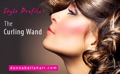 The curling wand saves more time and gives extensions more natural looking curls