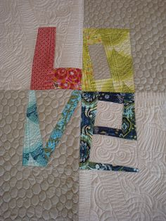 Tula Pink Love Quilt by The Quilt Barn, via Flickr
